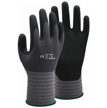 цены 100 Pairs Super Flex Oil and Gas Glove High Flex Gardening Safety Glove Nitrile Foam Abrasion Resistant Work Gloves