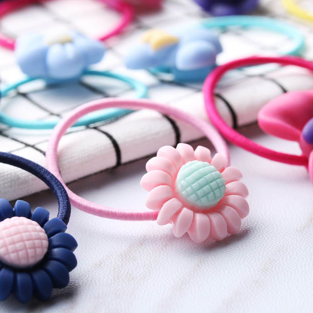 20 Pcs/Lots Cute Girls Elastic Headbands Flower Hair Bands Scrunchy Ponytail Holder Accessories Bow Animals Pattern Ropes Ties mism girl french hair bun maker multifunctional hair accessories for women fine roller curls styling holder curlers headbands