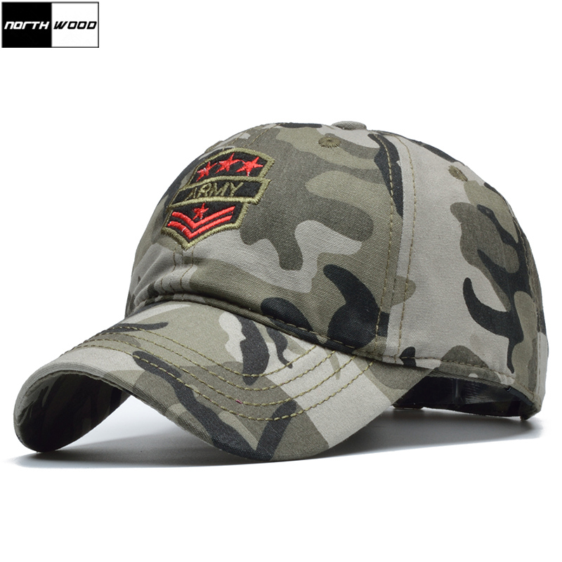 ba5b8785dde  NORTHWOOD  New Camouflage Army Cap Cotton Baseball Cap Men Snapback Hat  Women Tactical Cap Army Fitted Hats Bone Masculino