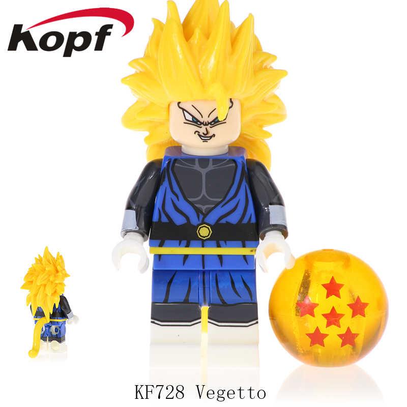 ビルディングブロックドラゴンボール Z ゴジータ孫悟空ベジータベジットミラ孫悟飯 Kanba Tapion フィギュアモデルのおもちゃ KF6069