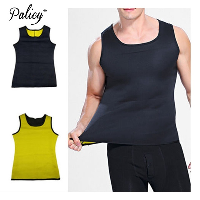 Palicy Classical Muscle Men Neoprene Vest Sauna Ultra Thin Sweat Shirt Body Shaper Slimming Corset for Weight Loss Top 5XL