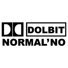 CK2302#30*11cm DOLBIT NORMALNO  funny car sticker vinyl decal silver/black auto stickers for bumper window decor