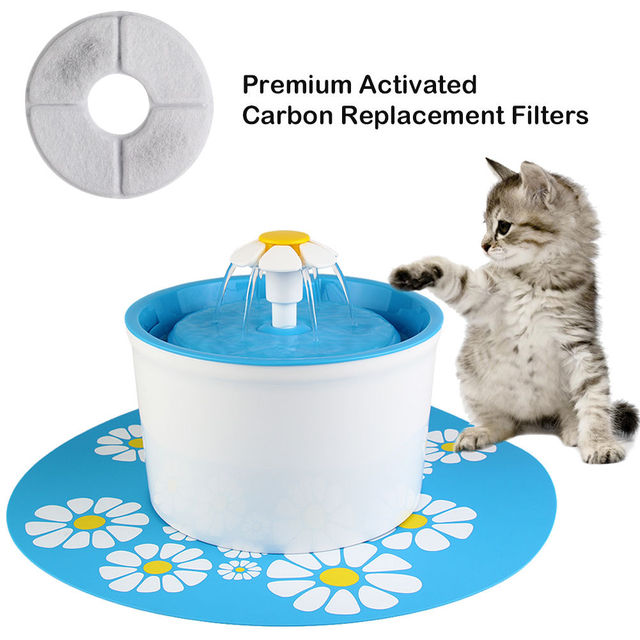 Automatic Cats Auto Drinking Fountain Water Dispenser Feeder Cat Water Bowl Filtered Pet supplies 1.6L Auto Dog Feeder Drinker 2