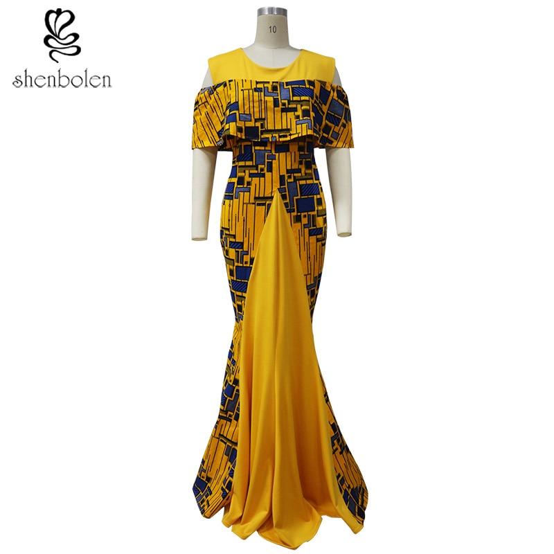 2017 Afrikai ruhák női vászonnyomtatásra ankara szövet ruhák - Nemzeti ruhák