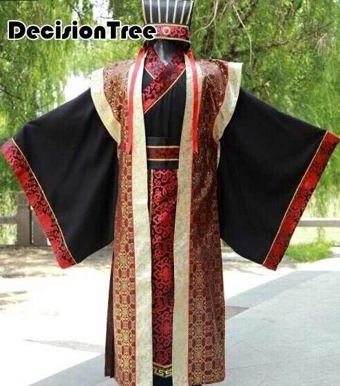 2019 kungfu uniforms chinese traditional men clothing costumes ancient emperor suits ancient costumes Warring States in Chinese Folk Dance from Novelty Special Use