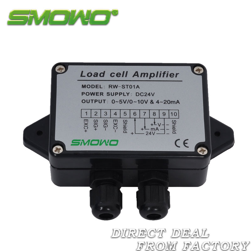 RW-ST01A Load cell / Strain Gauge Amplifier, Dual signal output(0~10V & 4~20mA) and (0~5V & 4~20mA) pressure sensor output amplifier 0 10v 4 20ma transmitter rw st01a weighing force measurement balance load cell amplifier