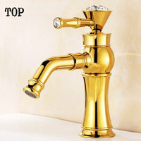Crystal Bathroom Faucets 360 Ronating Water Faucet Wash Basin Sink Faucet Luxury Antique Bronze Tap