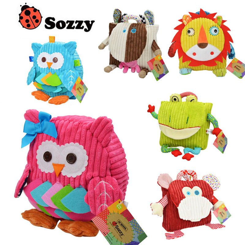 Sozzy 6pcs/lot Cute Cartoon Animal Children Packing Food Picnic Bags Kindergarten Plush Backpack Kid School Bags Back to School