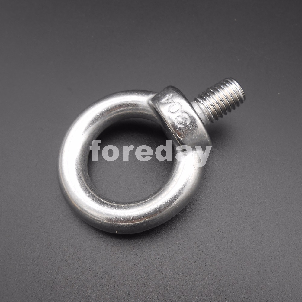 102a23456 1PC NEW HQ M12 M12 20 304 Stainless steel Shouldered Lifting Eye Ring Bolts  Nuts 12MM Flying Rings No treatment DIY  BT810-in Bolts from Home  Improvement on ...