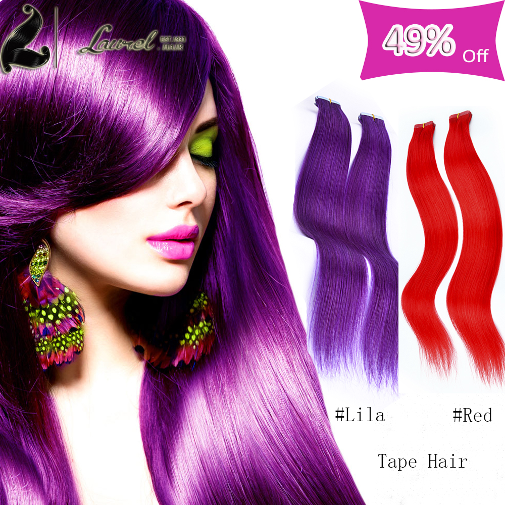 Adhesive Skin Weft Human font b Hair b font Extensions16 24inches Mink 7a font b Brazilian