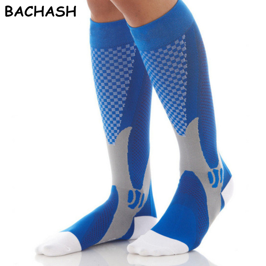 Flag Made With Hockey Soccer Tube Sock Cotton Thigh High Compression Socks