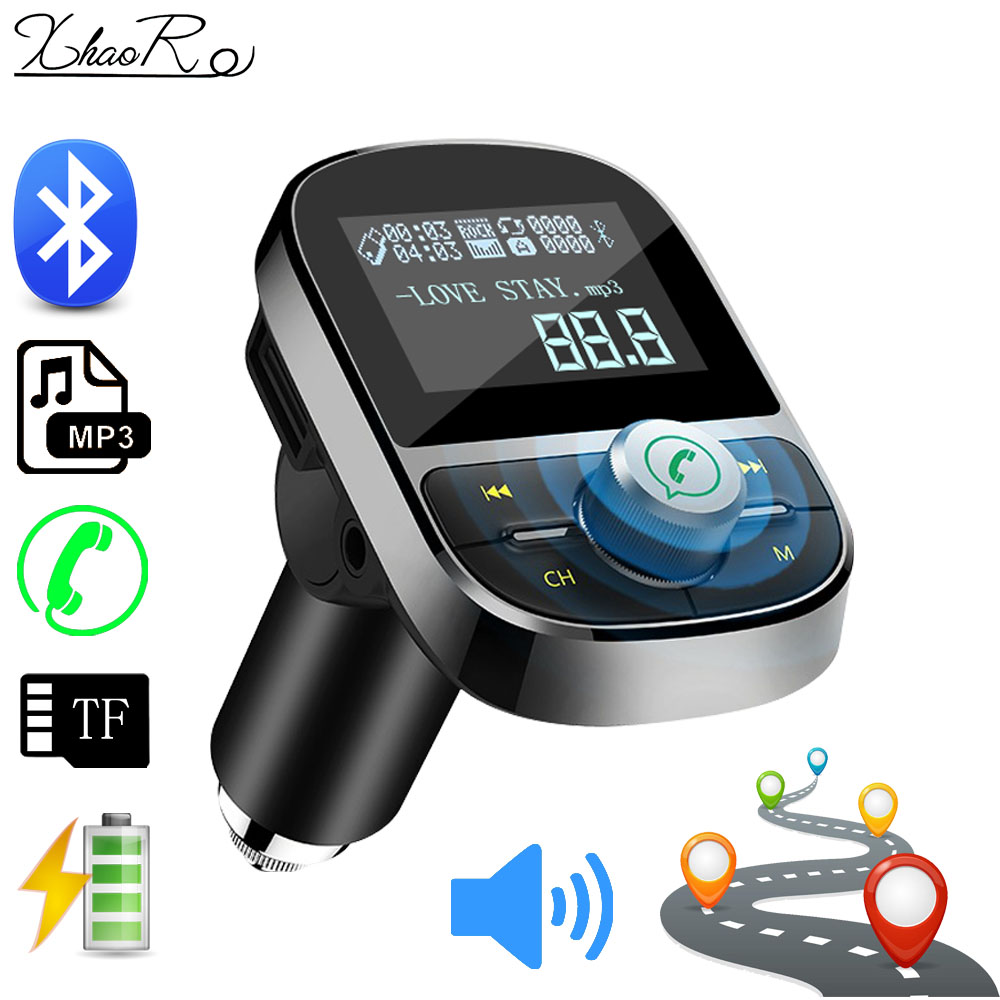 Car bluetooth fm transmitter aux Support U Disk TF Card Audio In Output Car MP3 Player Handsfree with 2 USB ports Car Charger