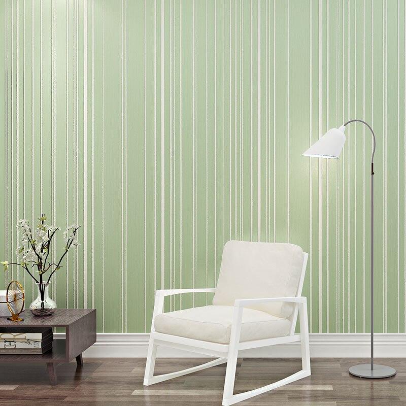 online kaufen großhandel grün streifen tapete aus china ... - Tapeten Schlafzimmer Modern Grun
