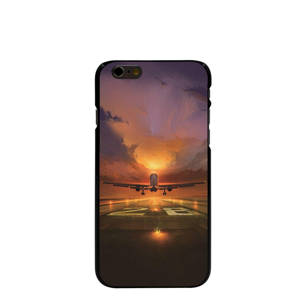 08285 Last rise airplane Hard black Cover Skin Back Case for iPhone 4 4S 5 5S 5C 6 6S Plus 6SPlus