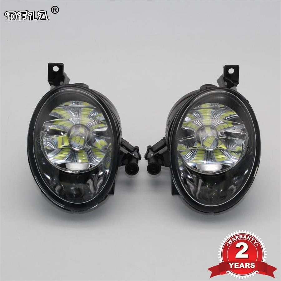 Car LED Light For VW Tiguan 2012 2013 2014 2015 2016 Car-styling Front LED Fog Light Fog Lamp With LED Bulbs rns510 rcd510 car rgb reversing video camera for vw tiguan a4 a7 s6 q5 a6 a5 2011 2012 5nd 827 566 c 5nd827566c