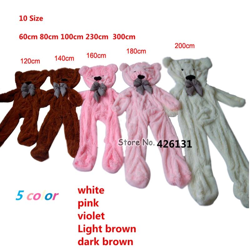 Wholesale bear enclosure Teddy Bear Fur shell plush toy  120cm  birthday Valentine's Day gift  white yellow brown free shipping teddy bear c h3 r yellow