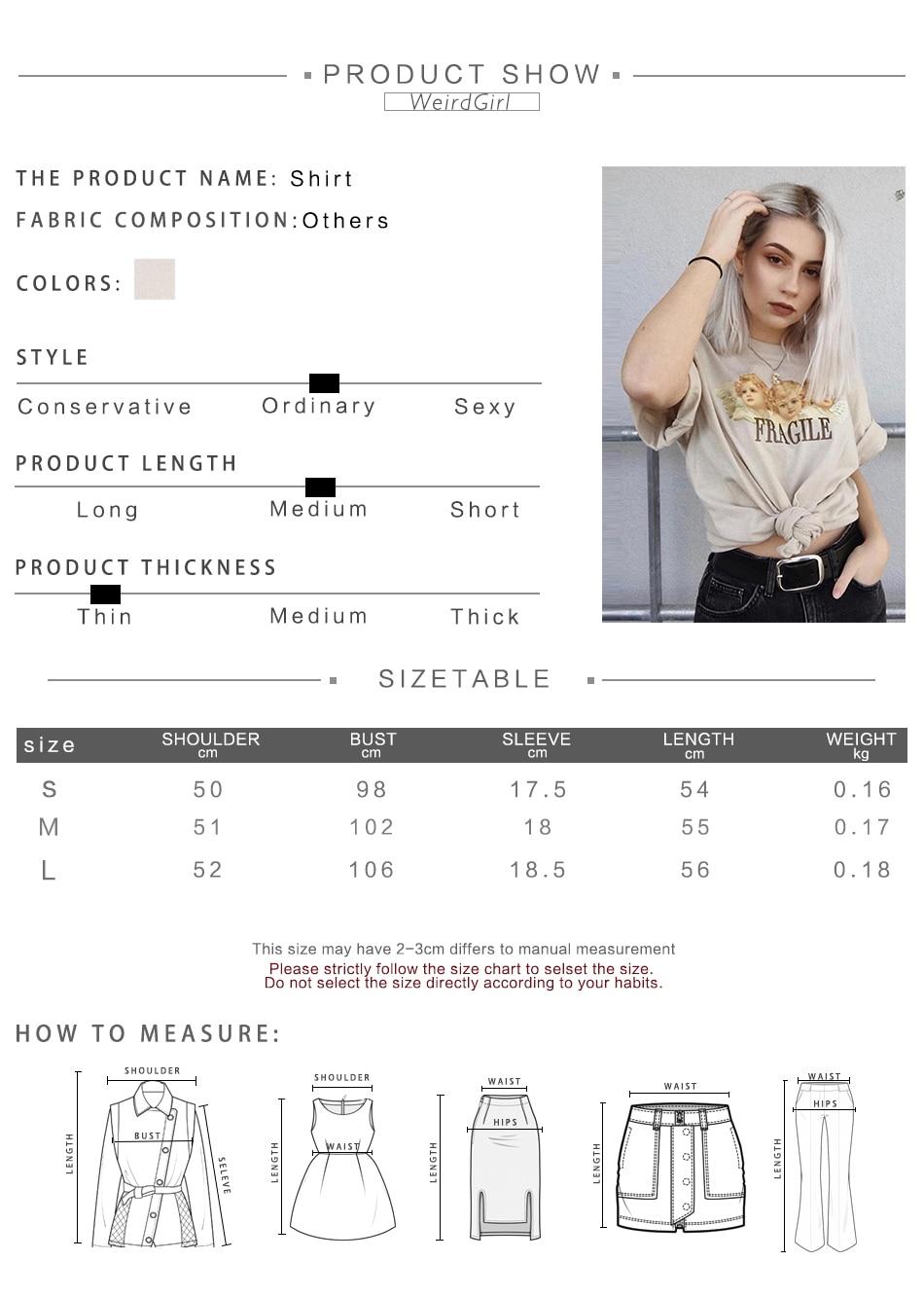 Weirdgirl Women Baby Angel Printing Casual Fashion T-shirts letter Short Sleeve O-Neck Khaki Loose Female Tees Summer New 19 2