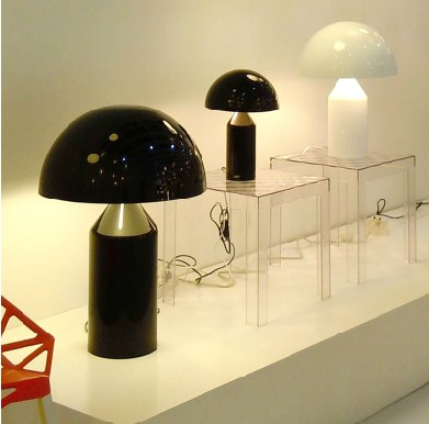 Italy design mushroom table lamp golden compasses award living room personality brief originality modelling desk lamp