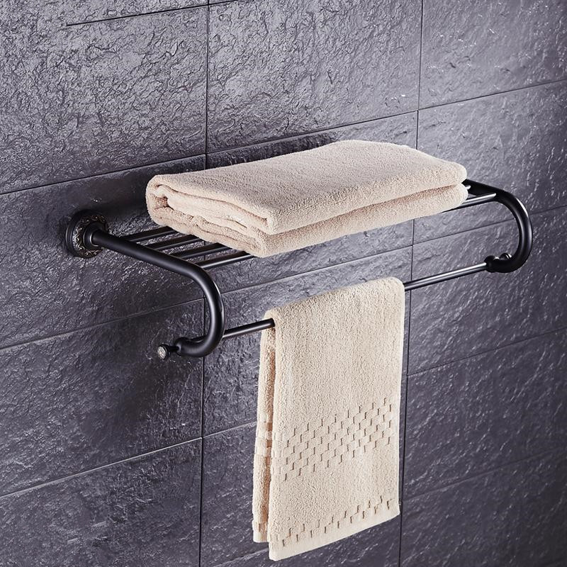 European Towel rack Towel rack Simple Copper Black Bronze Towel Rack Towel Rack Retro Black Bronze Bathroom PendantEuropean Towel rack Towel rack Simple Copper Black Bronze Towel Rack Towel Rack Retro Black Bronze Bathroom Pendant