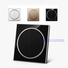 Новый круглый дизайн 2 позиционный 1 Переключатель для стеклянной
