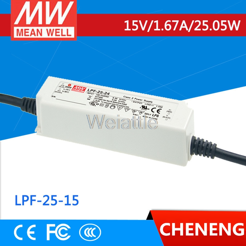 MEAN WELL original LPF-25-15 15V 1.67A meanwell LPF-25 15V 25.05W Single Output LED Switching Power Supply 4 2 1 6m 300 led party wedding garden new year net mesh garland led christmas decoration outdoor fairy string light hk c 37