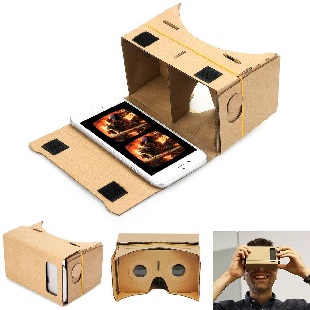 DIY Magnet Google Cardboard Virtual Reality VR Mobile Phone 3D Viewing Glasses For iphone 5s 6s 7 7p IOS Android Samsung #1 APE