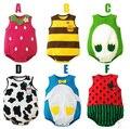 Verão Novo Estilo Macacão de Bebê Sem Mangas Triângulo Frutas Escalada Roupas Para Crianças Bebê Casuais Macacões Pijama