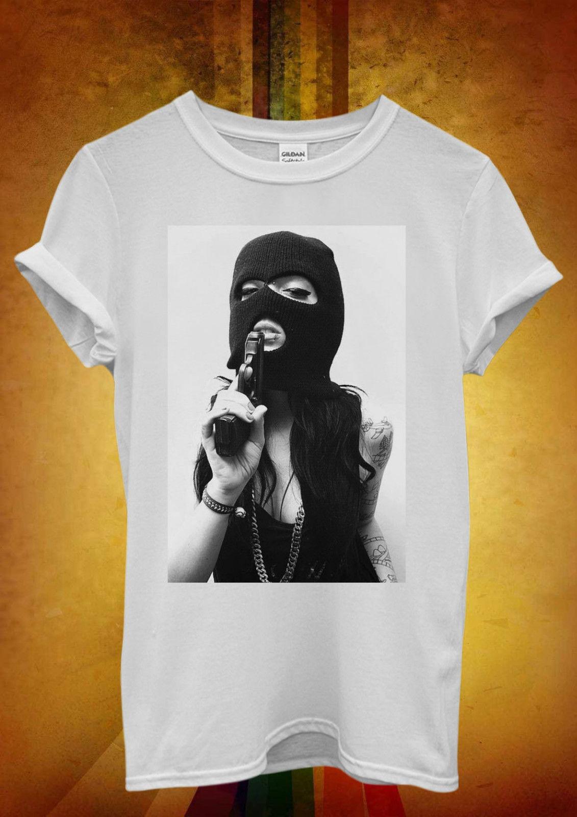 Tattoo Girl Gun Violence Funny Cool Men Women Unisex T Shirt  Top Vest 1049 New Shirts Tops Tee