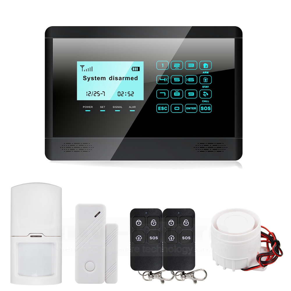 DIYSECUR 433MHz Wireless GSM SMS TEXT Touch Keypad Home House Alarm System Touch Panel M2BX new design wireless rfid key tag sms notice for home gsm alarm system s3b 433mhz