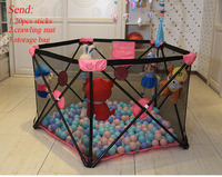 Портативный детские игры безопасности ограждение для детского манежа ребенка ползать коврик игровое бассейн металлический дети деятельно