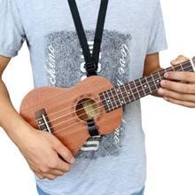 Adjustable Ukulele Strap Guitar Mandolin Instrument Hook Black 1 Pcs