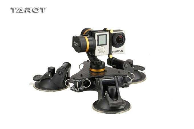 Tarot ZYX T DZ Stable 3 axes métal caméra cardan stabilisateur voiture monté PTZ pour GOPRO HERO 3/3 +/4 Sport caméra-in Pièces et accessoires from Jeux et loisirs    1