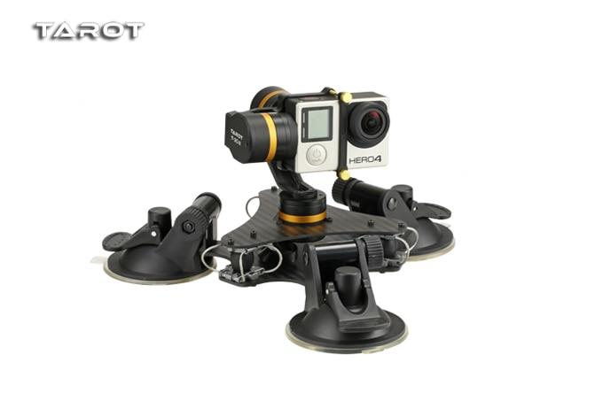 Tarot ZYX T DZ stabilny 3 osi metalowa kamera stabilizator gimbal samochodu zamontowany PTZ do GOPRO HERO 3/3 +/4 kamera sportowa w Części i akcesoria od Zabawki i hobby na  Grupa 1