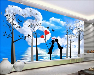 Hot Sale Beibehang Custom 3D Warm Romantic Love Creative Rose Diamond Photo Wallpaper Mural Living Room Restaurant Cafe Background