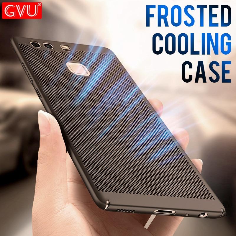 GVU Luxus Wärmeableitung fall Für Huawei P9 P10 Lite P10 Plus harte pc zurück abdeckung Für Huawei P8 Lite 2017...