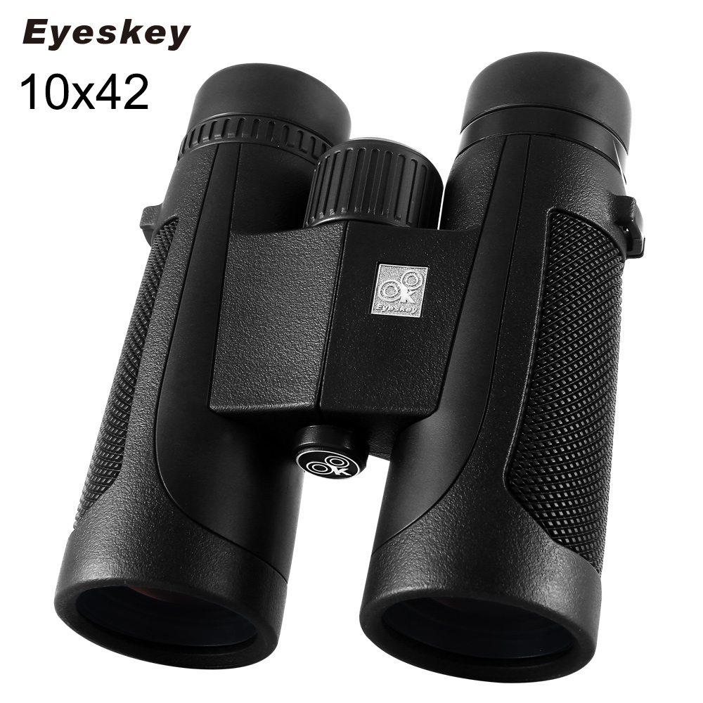 ФОТО Eyeskey HD 10x42 Binoculars Outdoor Sports Eyepiece Telescope Binoculars Telescope Wide Angle Hunting Free Shipping Black