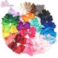 XIMA 32 ピース/ロット 6 インチビッグ弓キッズヘアアクセサリー弓ヘアピン若者たちの幼児子供女性 25 色