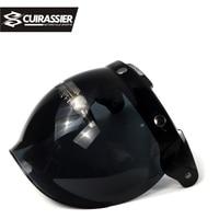 Cuirassier VS02 Universal Flip up Lens Bubble Visor Face Shield Mask for Bitwell Vintage Retro Motorcycle Helmet Moto Capacete
