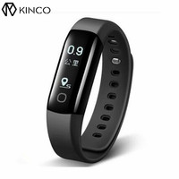 KINCO Cardiofrequenzimetro Bluetooth IP68 0.87 pollice OLED Smart Braccialetto Sport Fitness Track Record Wristband per IOS/Android