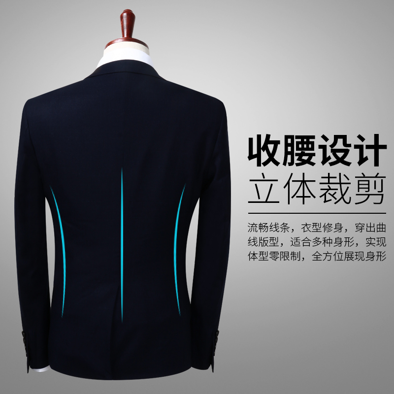 Costumes Slim Mariage Pantalon Bleu Stretch De Costume Nouveau Tissu Printemps 2019 Casual Gilet Le Hommes Fit Marine Mode veste 6d7qAaq