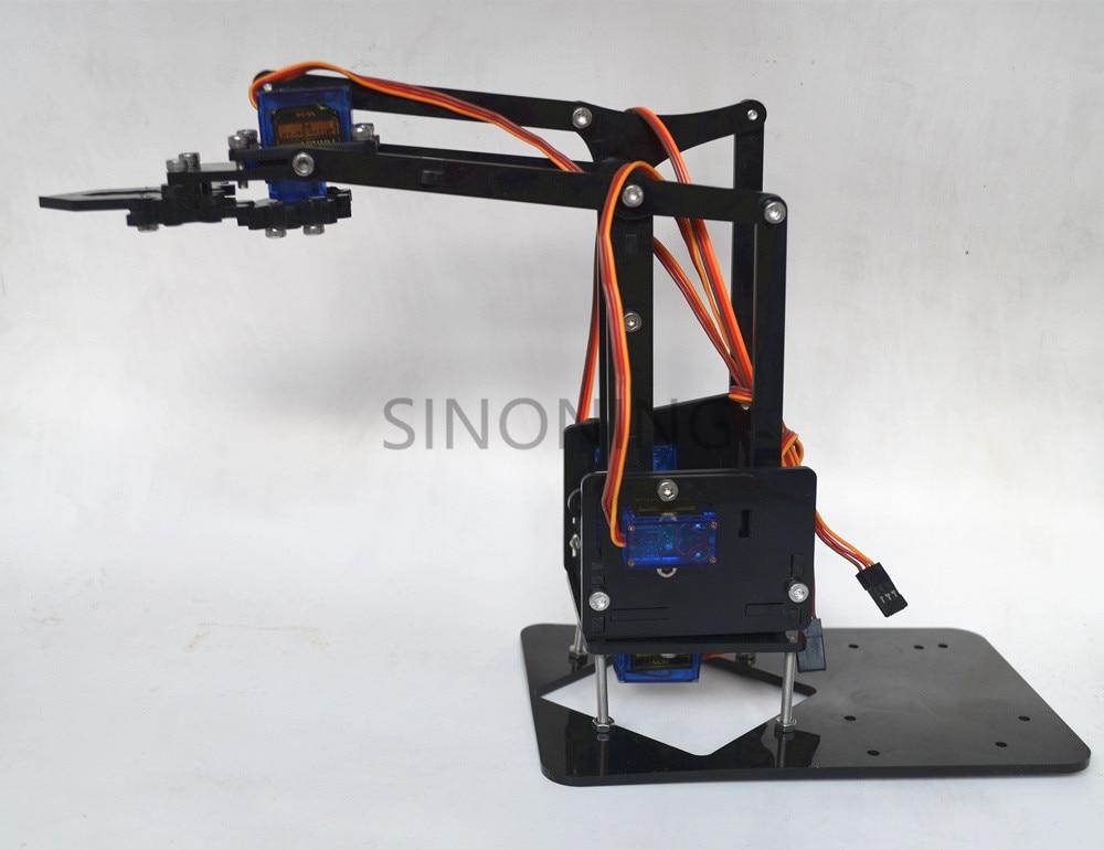 Acrylic Mechanics Handle Robot Robotic 4 Dof Arm For Arduino Created Learning Kit Sg90 #3
