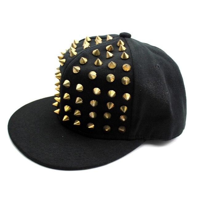 Fashion Rivet Stud Spike Decorative Hat Punk Style Unique Baseball Caps  Rock Dancing Caps Unisex Men Women 38c351c3dd6e