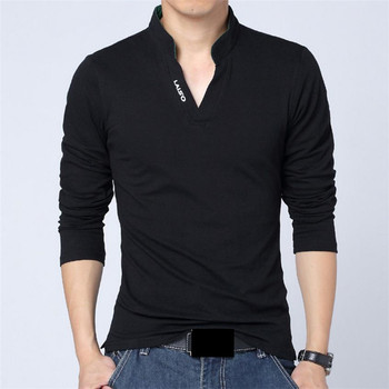 2018 New fashion brand of men's clothing. Solid color, long sleeves, Slim, T-shirt for men cotton. Spring t-shirts