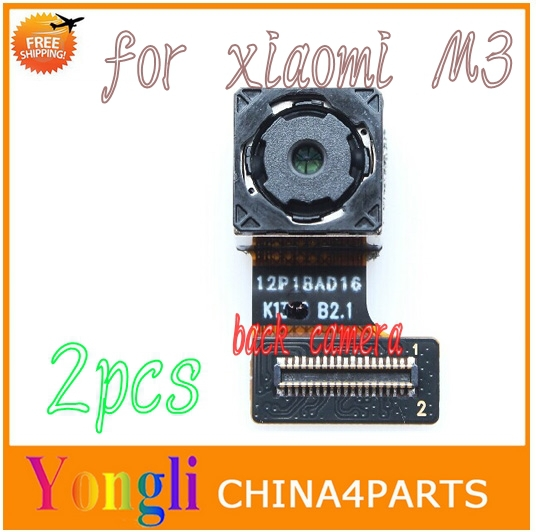 2pcs for xiaomi M3 big back rear camera with flex cable mobile phone replacement parts free shipping