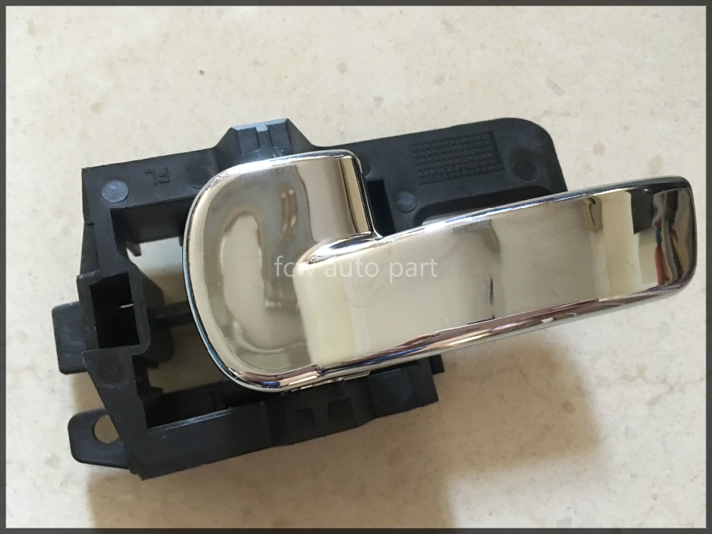 INNER CHROME DOOR HANDLE PAJERO SHOGUN MK2 NS LEFT PASSENGER SIDE  INTERNAL
