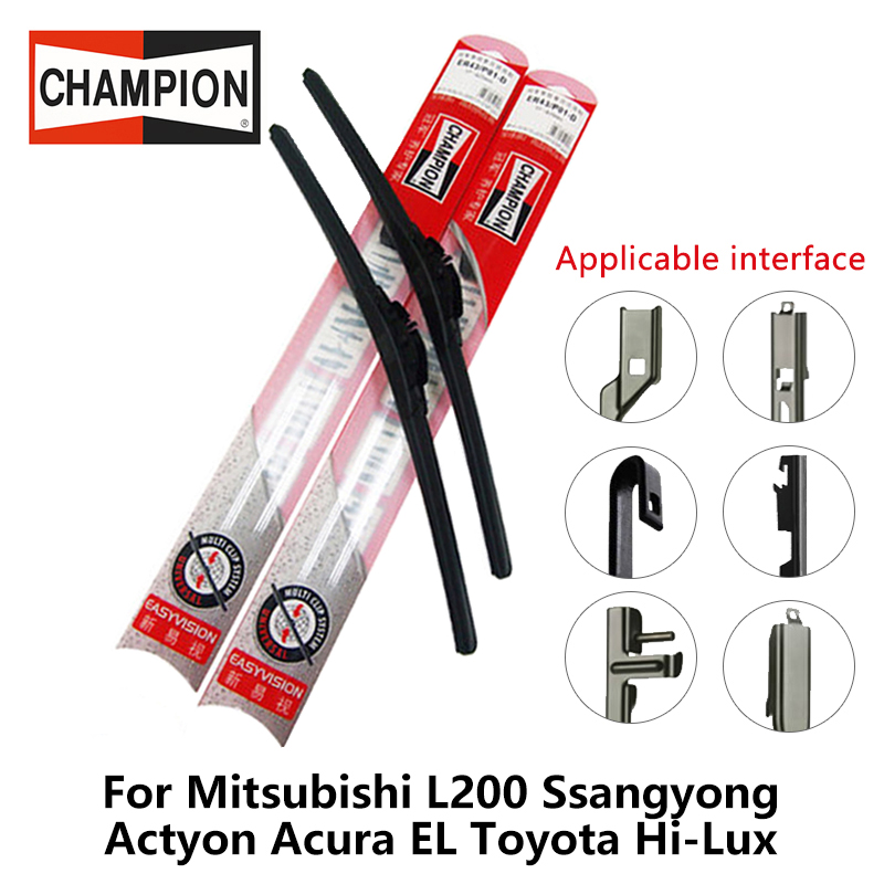 2pieces/set Champion EasyVision Compound type Wiper Blades For Mitsubishi L200 Ssangyong ...
