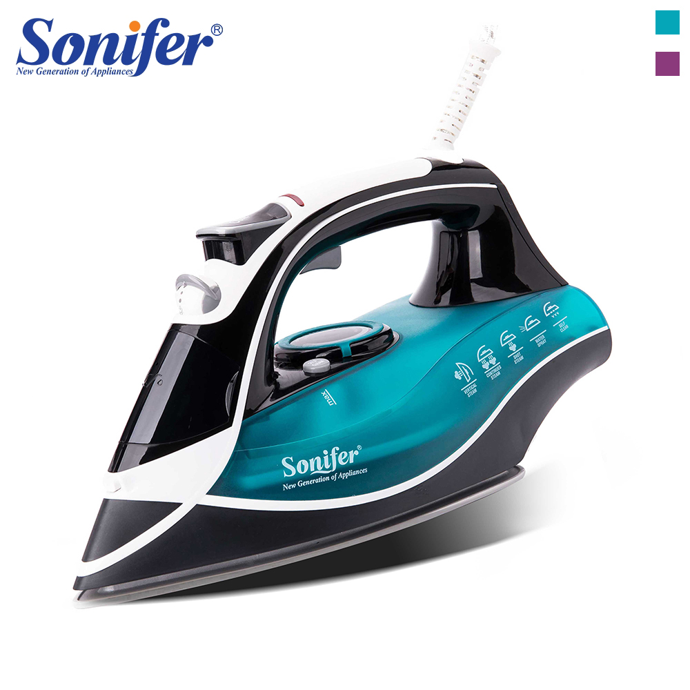 2200W Electric Iron Steam Flatiron For Clothes High Quality Multifunction Ceramic Soleplate Laundry Appliances Sonifer clothes iron