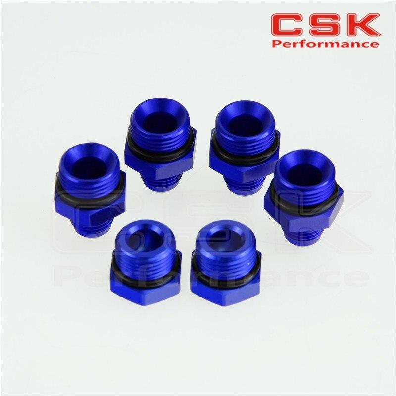 <font><b>2</b></font> <font><b>x</b></font> Port Plugs& 4 <font><b>x</b></font> AN6 Fittings for Fuel Surge Tank Swirl Pot System BLUE