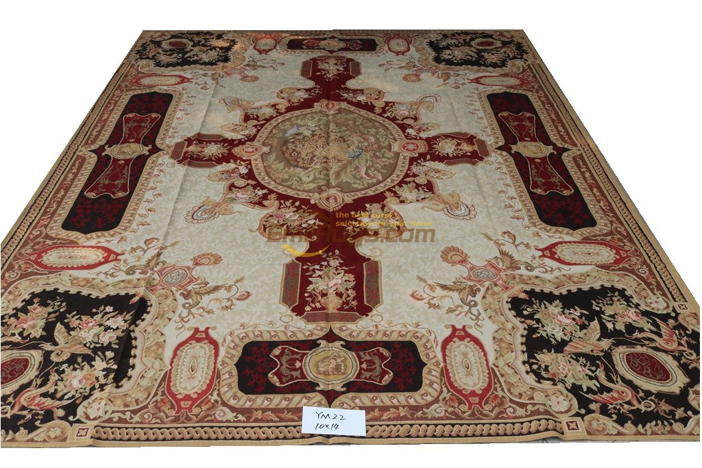 18th Century français Aubusson tapis fait main tapis canapé étage utilisation Rectangle tapis tapis turc