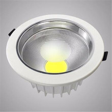 Free shipping  Led Downlight 20W COB Ceiling Spot Light White shell LED Recessed Lights Warm Cool Indoor Lighting